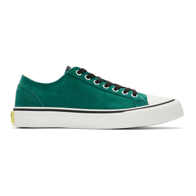 Photo: Article No. Green Suede 1007 Sneakers