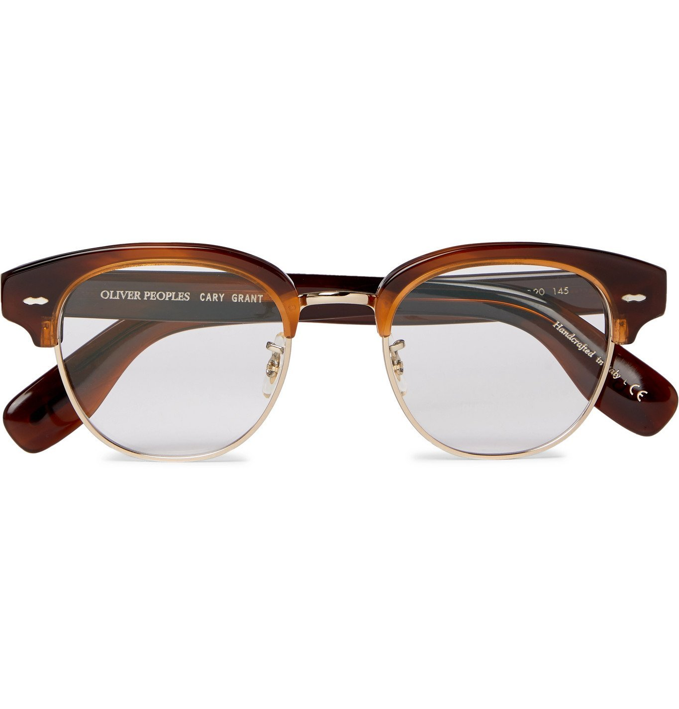 OLIVER PEOPLES - Cary Grant 2 Round-Frame Gold-Tone and Tortoiseshell Acetate Optical Glasses - Brown