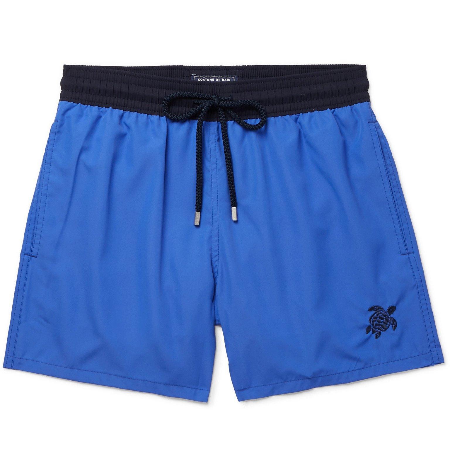 Photo: Vilebrequin - Moxe Mid-Length Swim Shorts - Blue