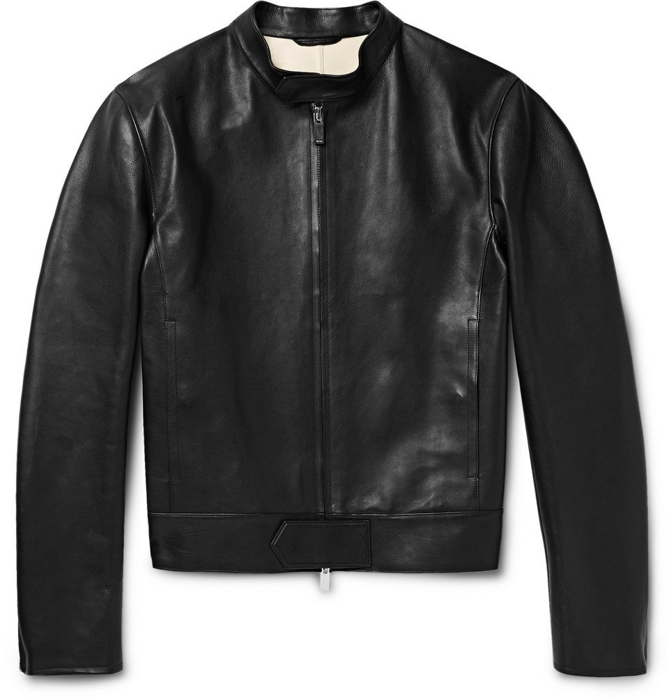 Photo: Berluti - Unlined Leather Biker Jacket - Men - Black