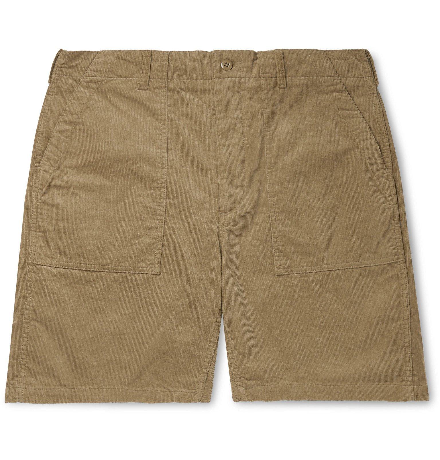 Photo: Engineered Garments - Wide-Leg Cotton-Corduroy Shorts - Brown