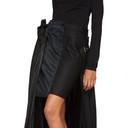 Sacai Black Wool Pleated Skirt