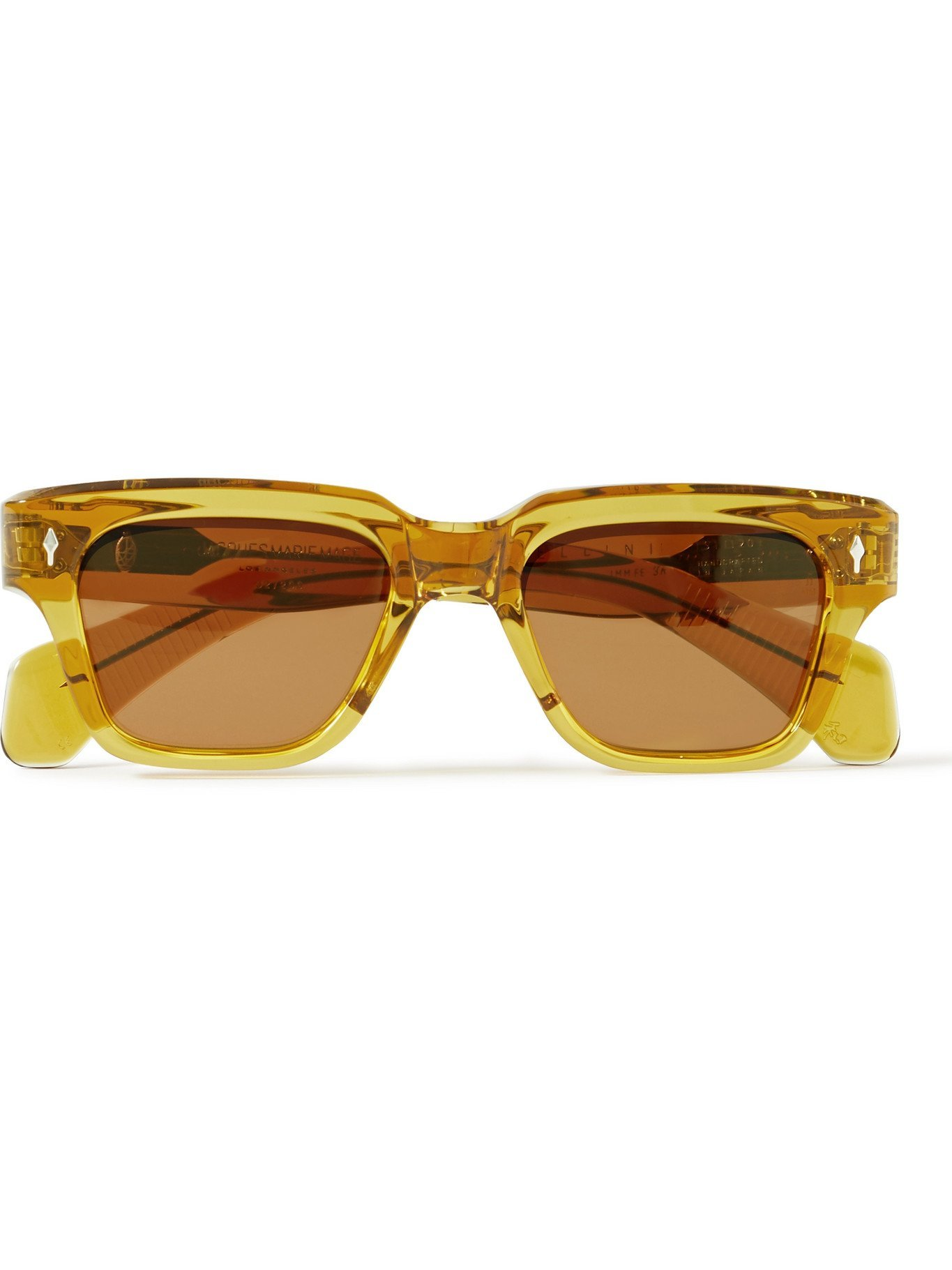 Photo: JACQUES MARIE MAGE - Fellini Square-Frame Acetate Sunglasses
