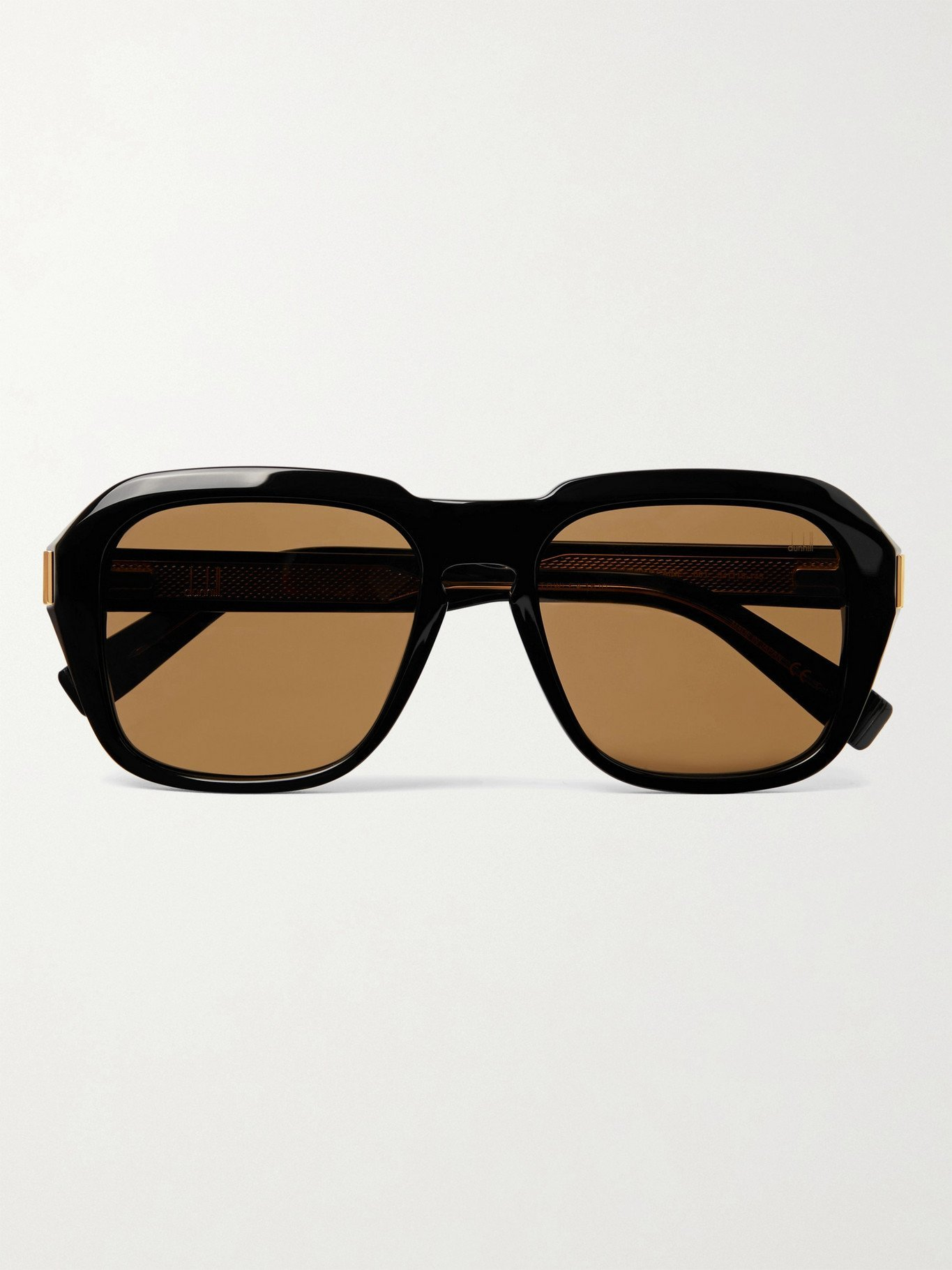 DUNHILL - Round-Frame Acetate Sunglasses - Black