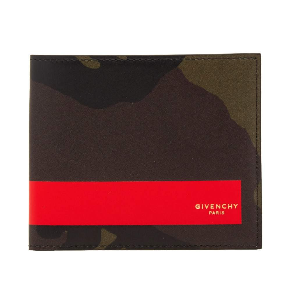 Photo: Givenchy Camo Red Stripe Billfold Wallet