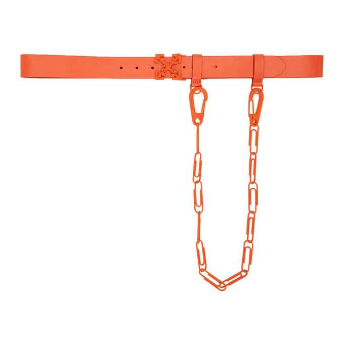 Photo: Off-White Orange Chain Arrows Belt