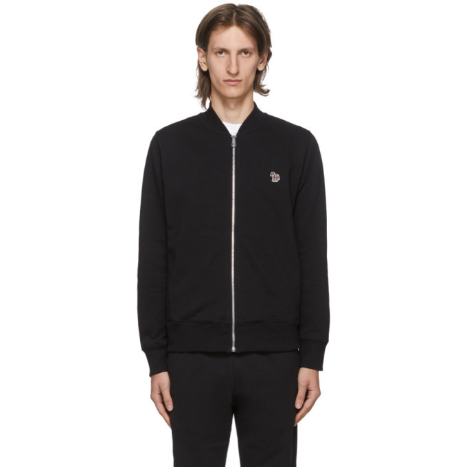 Photo: PS by Paul Smith Black Zebra Bomber Jacket
