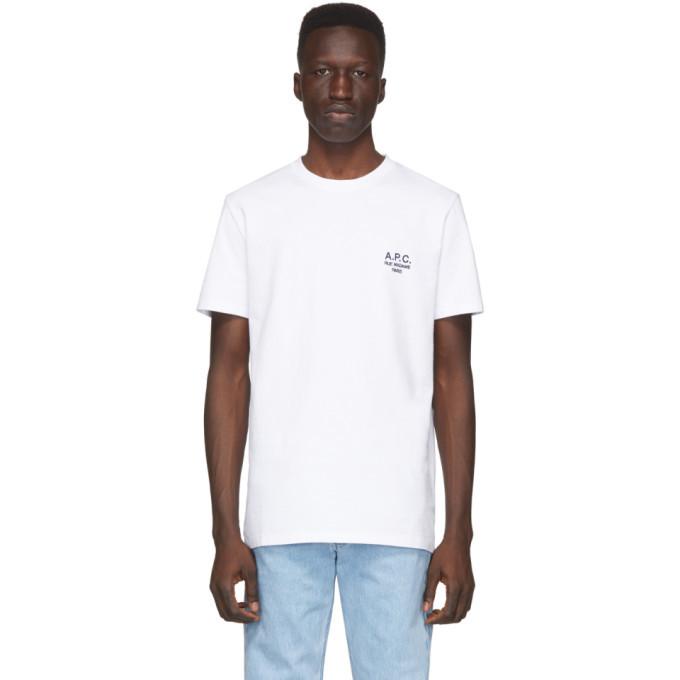 Photo: A.P.C. White Raymond T-Shirt