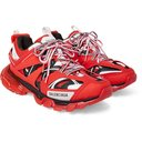 BALENCIAGA - Track Nylon, Mesh and Rubber Sneakers - Red