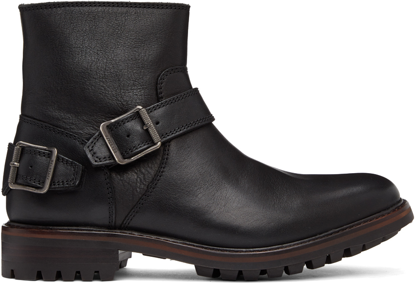 Photo: Belstaff Black Trialmaster Chelsea Boots