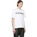 Aries White No Problemo T-Shirt