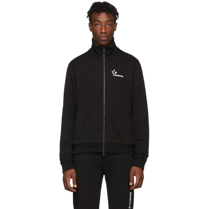 Photo: Moncler Black Maglia Zip-Up Sweater