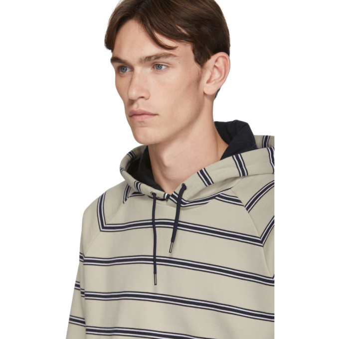 PS by Paul Smith Off-White Stripe Regular-Fit Hoodie