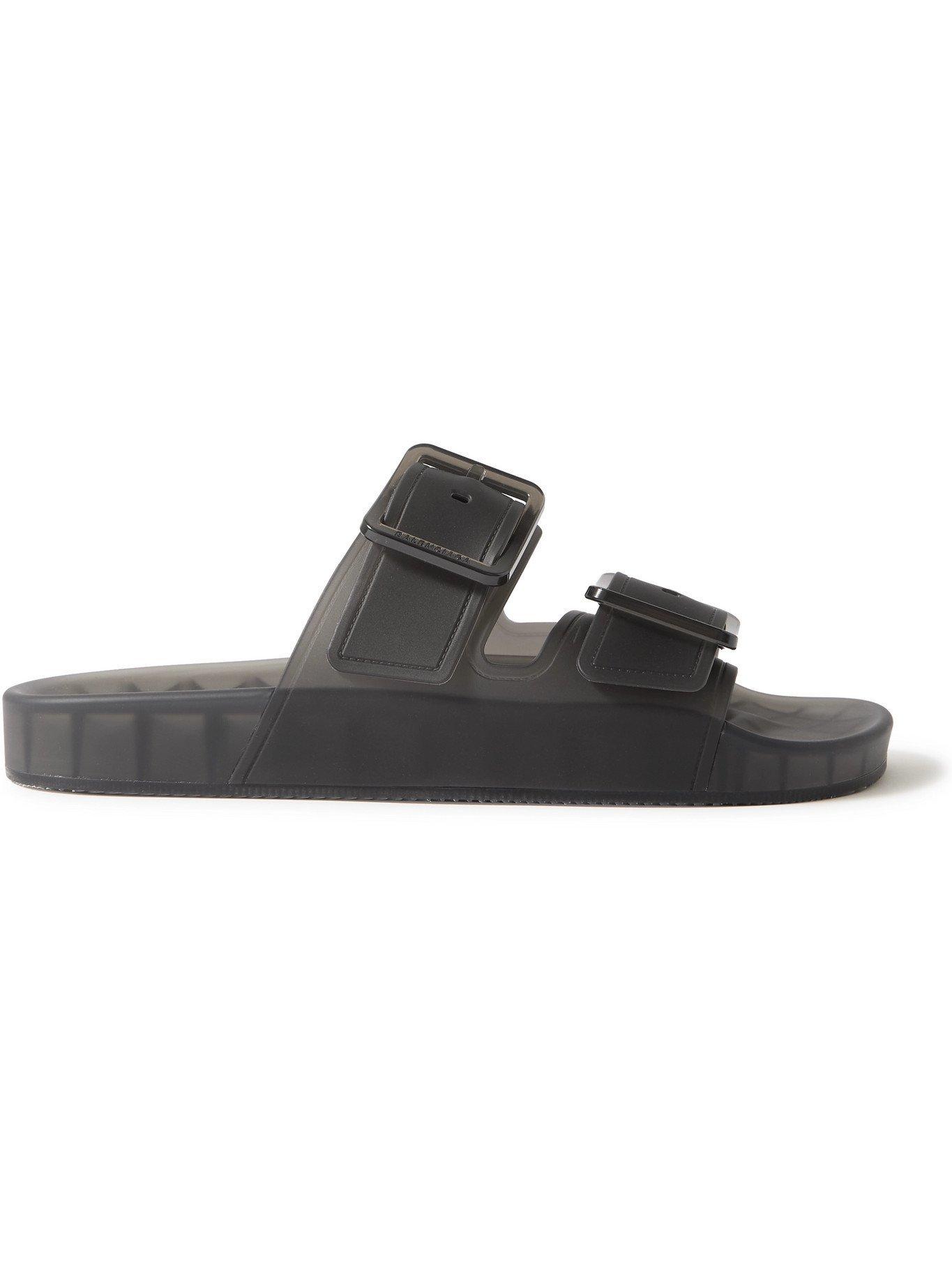 Photo: BALENCIAGA - Mallorca Rubber Sandals - Black