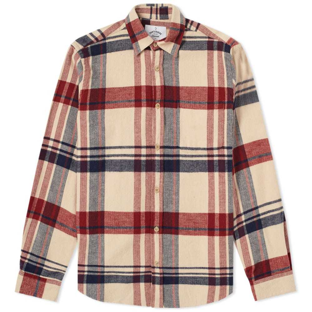 Photo: Portuguese Flannel Coachella Check Shirt Neutrals