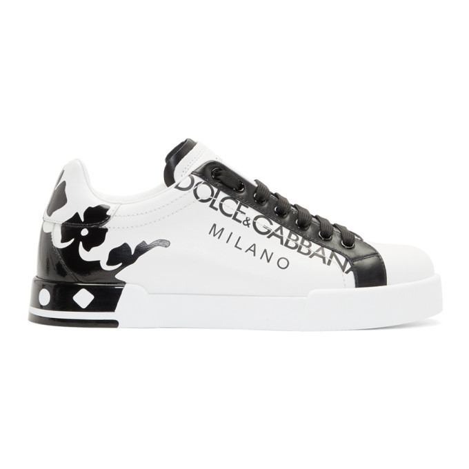 Photo: Dolce and Gabbana White Portofino Sneakers