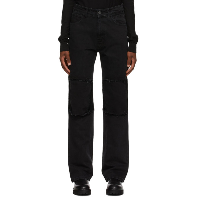 Raf Simons Black Relaxed-Fit Jeans