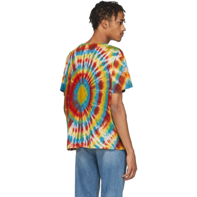 The Elder Statesman Multicolor Cashmere Tie-Dye T-Shirt