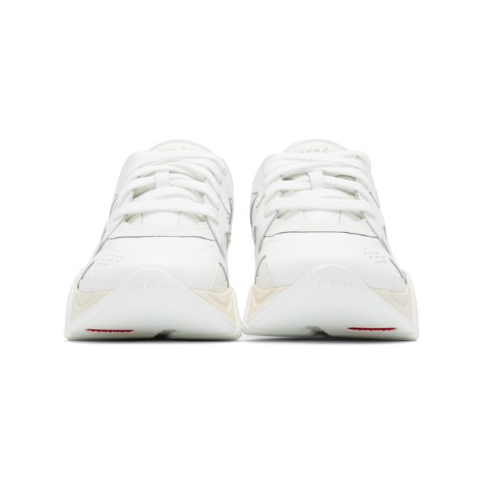 Versace White Squalo Sneakers
