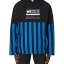 Martine Rose Split Wadded Hooded Sweatshirt Black/Blue