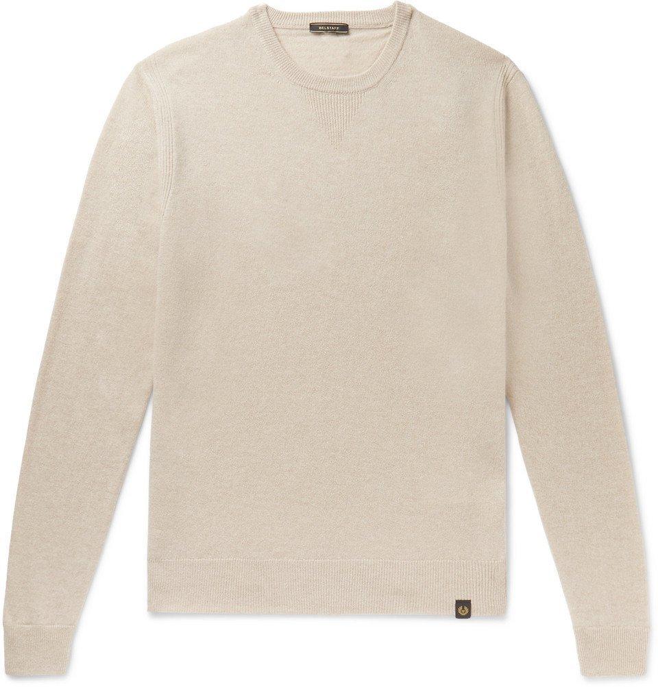 Belstaff - Wool and Cashmere-Blend Sweater - Cream