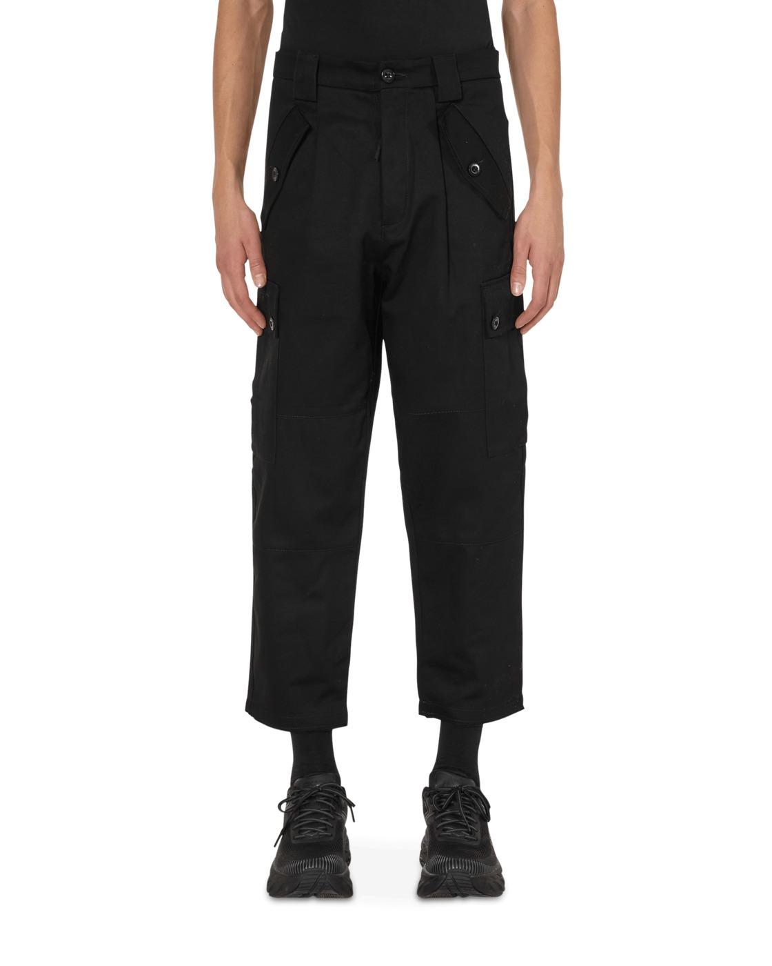 C.P. Company Gabardine Cropped Utility Pants Black