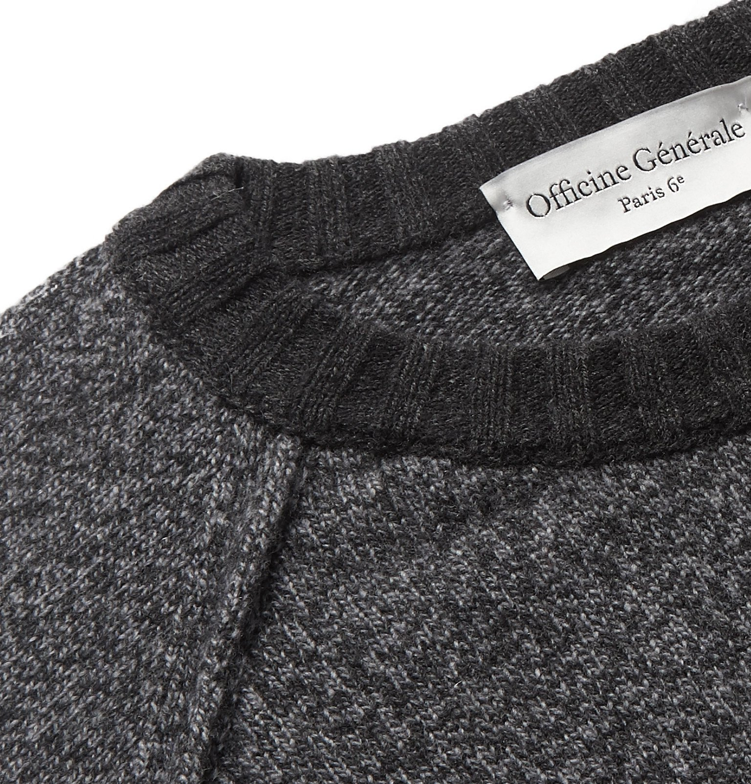 Officine Generale - Lars Mélange Wool and Cashmere-Blend Sweater - Gray