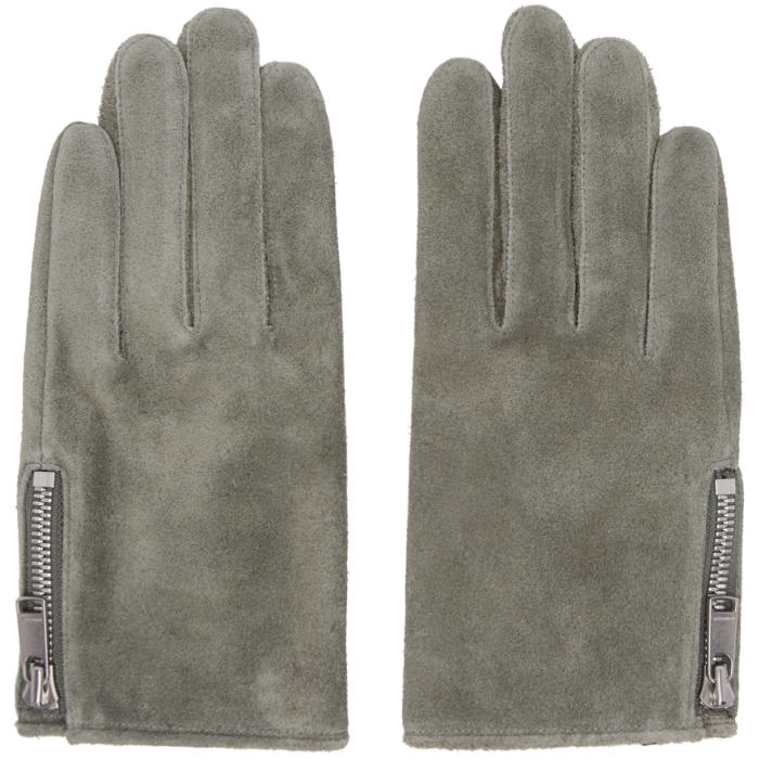 Photo: nonnative Grey GRIP SWANY Edition Leather Rider Gloves