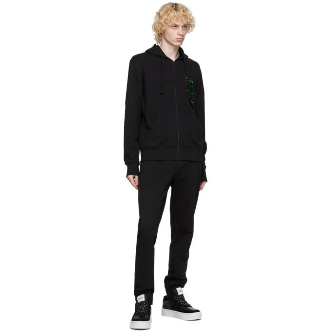 Versace Jeans Couture Black Warranty Label Zip-Up Hoodie