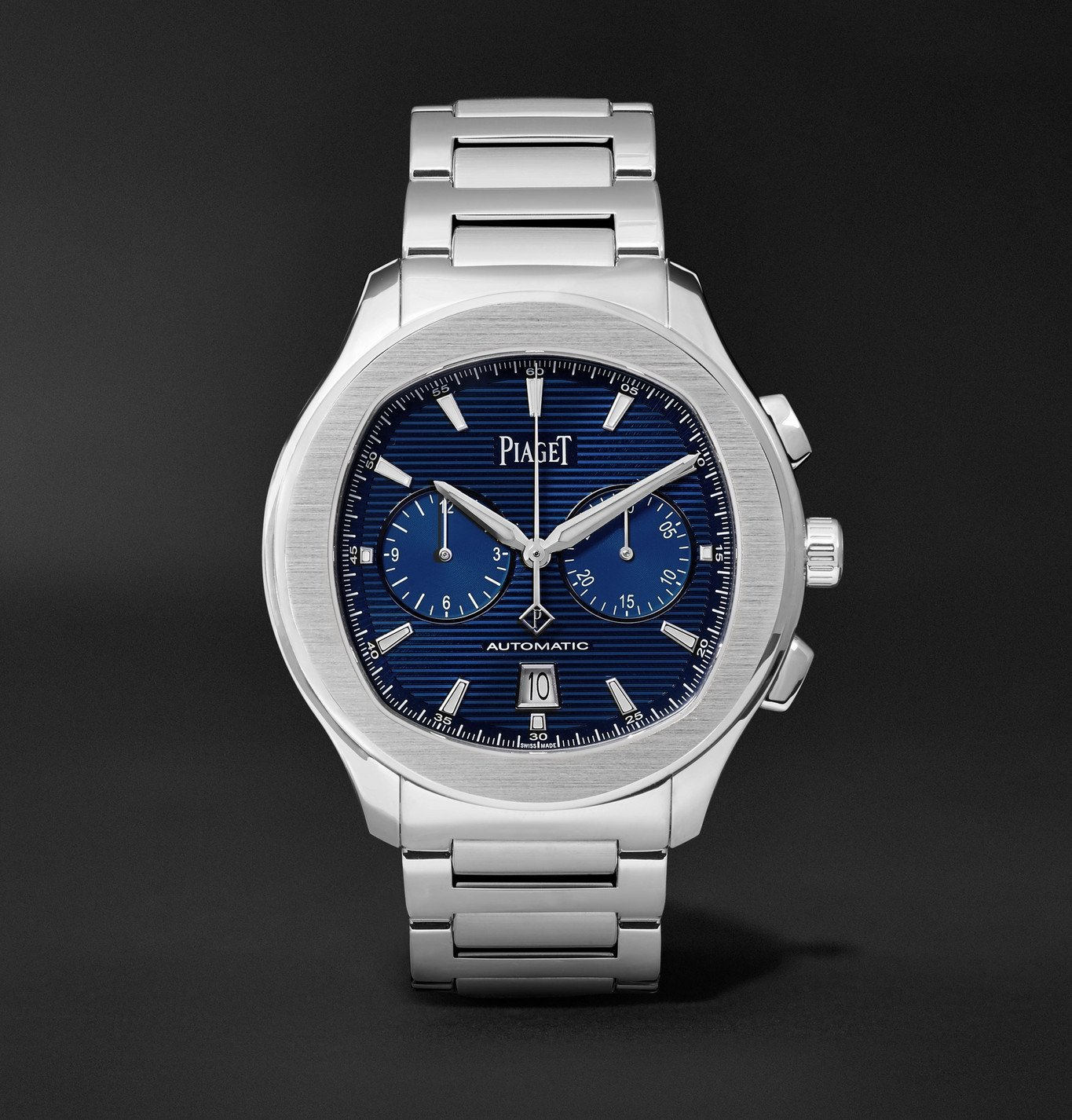 Photo: Piaget - Polo S Automatic Chronograph 42mm Stainless Steel Watch, Ref. No. G0A41006 - Blue