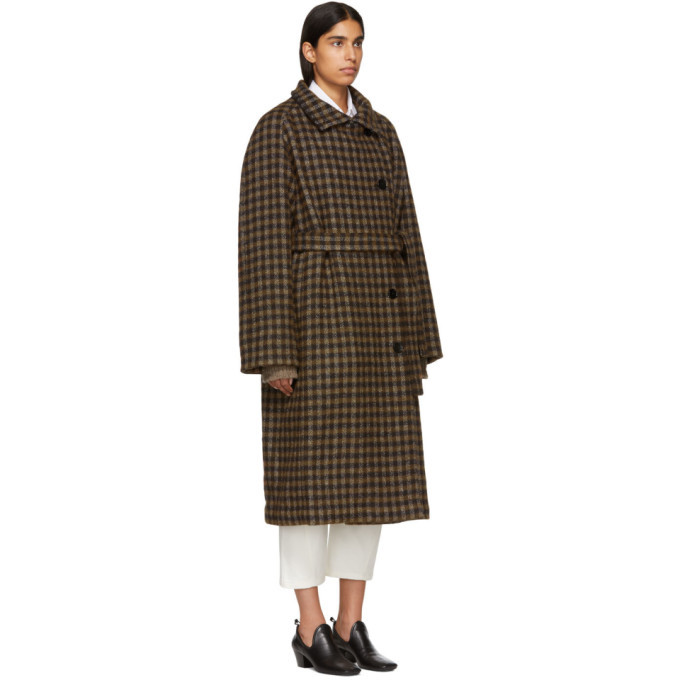 Lemaire Brown Double-Breasted Coat