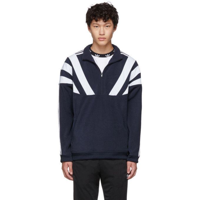 Photo: adidas Originals Navy 96 QZ Zip-Up Sweater