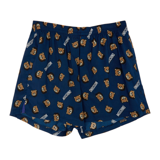 Photo: Moschino Navy Bear Print Boxers