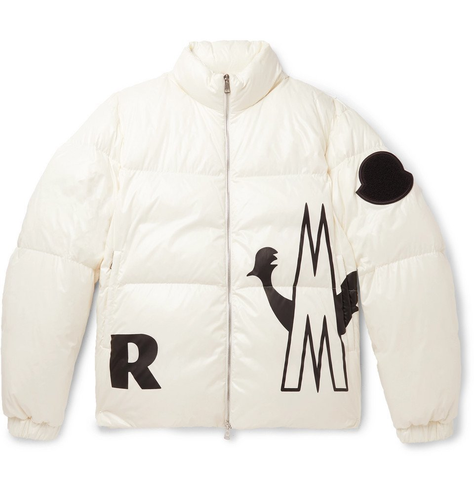 Photo: Moncler - Friesian Printed Quilted Shell Hooded Down Jacket - White