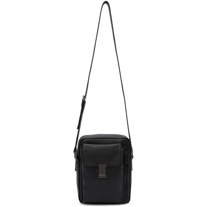 Photo: Prada Black Leather Messenger Bag