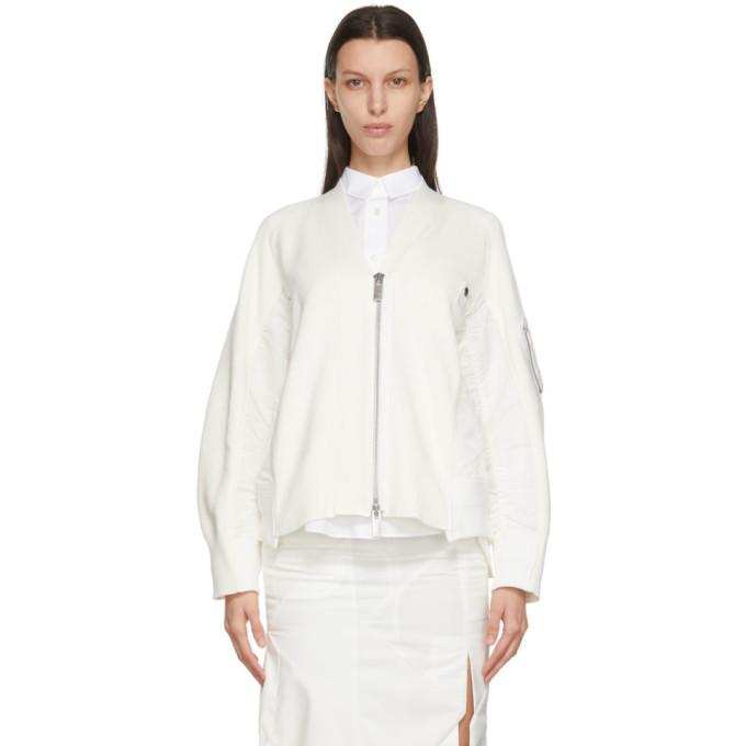 Sacai Off-White Knit X MA-1 Cardigan