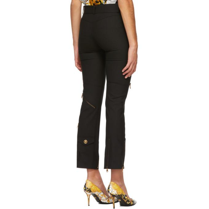 Versace Black Multi Zip Trousers