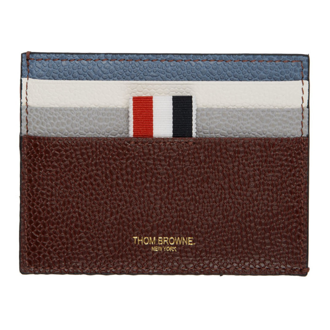 Photo: Thom Browne Multicolor Funmix Double Sided Card Holder