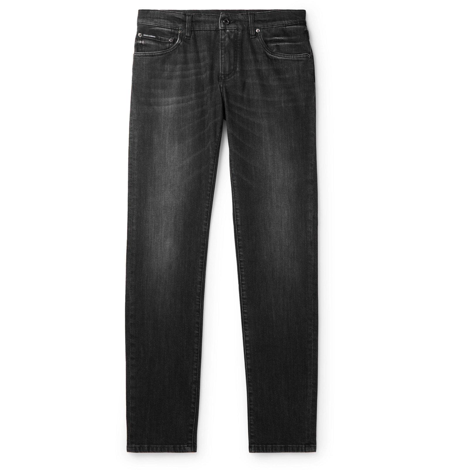 Dolce & Gabbana - Skinny-Fit Denim Jeans - Gray