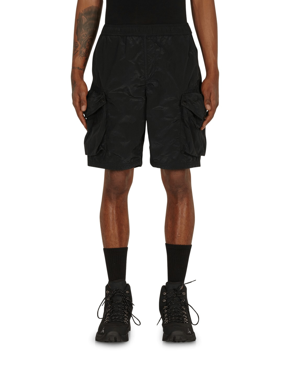Photo: Stone Island Nylon Metal Cargo Shorts Black
