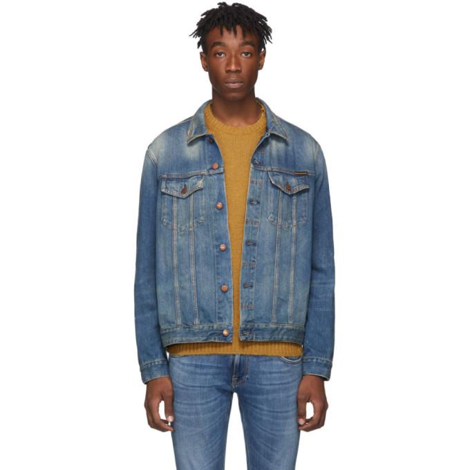Photo: Nudie Jeans Blue Denim Jerry Dark Worn Jacket