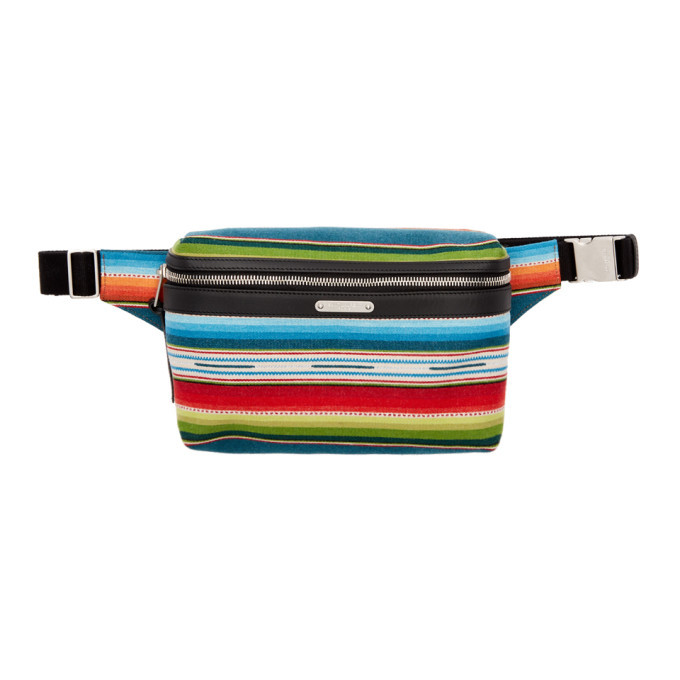 Photo: Saint Laurent Multicolor Mexican City Belt Bag