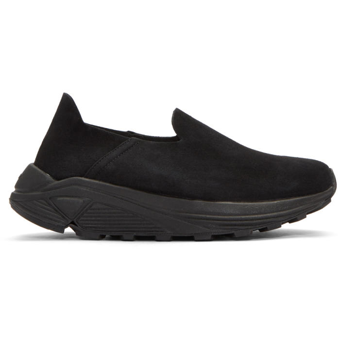 Black and White Suede One Slip-On Sneakers Diemme PebrIc