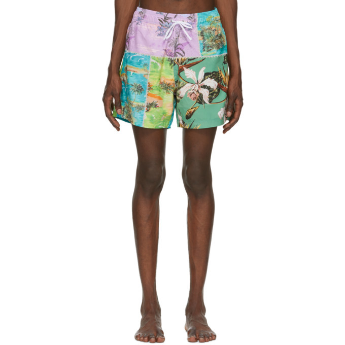 Photo: Amiri Multicolor Hawaiian Repair Swim Trunks