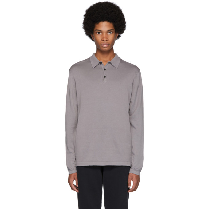 Photo: Sunspel Grey Sea Island Knit Polo
