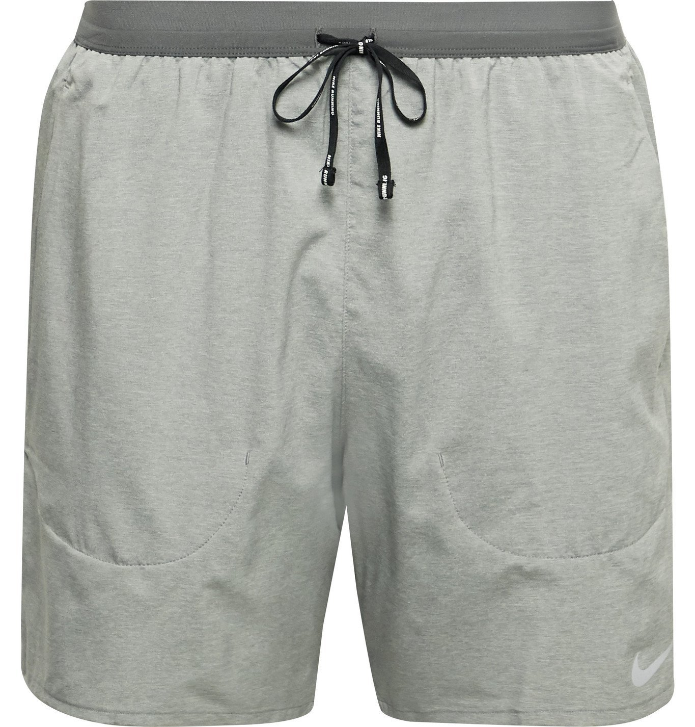 Nike Running - Flex Stride Slim-Fit Mélange Dri-FIT Shorts - Gray