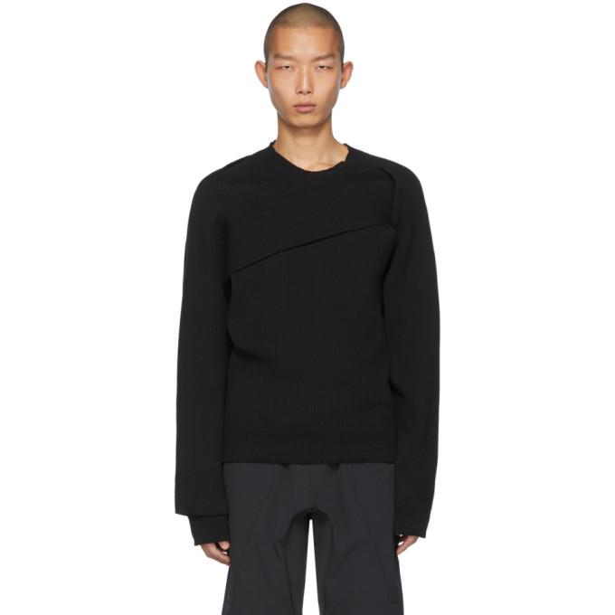 Photo: Bottega Veneta Black Asymmetric Knot Sweater