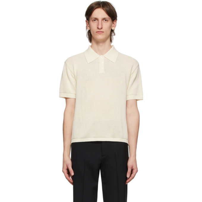 Photo: Second/Layer White Knit Polo