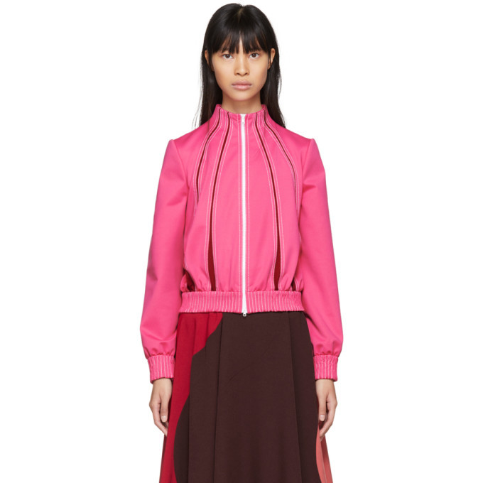 Photo: Valentino Pink and Red Panelled Track Jacket