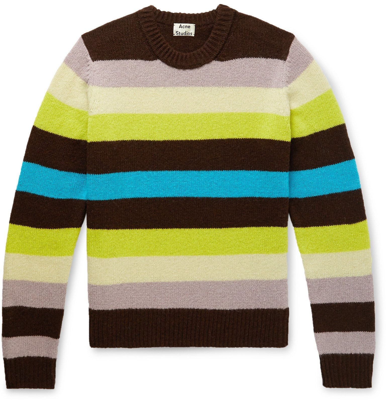 Photo: Acne Studios - Kai Striped Wool Sweater - Multi